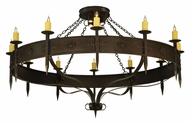 Meyda Tiffany 131478 Warwick 72 Inch Diameter 12 Lamp Large Candle Chandelier With Downlights
