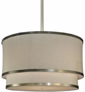 Meyda Tiffany 131965 Cilindro 2 Tier 12 Inch Tall Fabric Drum Pendant Lighting