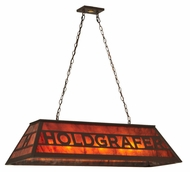 Meyda Tiffany 132043 Personalized 47 Inch Wide Holdgrafer Mica Crylic Island Pendant Light