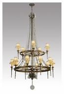 Meyda Tiffany 132050 Amaury Large 89 Inch Tall 2 Tier Chandelier With Shades