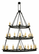 Meyda Tiffany 132123 Kenosha 3 Tier 60 Inch Diameter 28 Candle Traditional Dining Chandelier