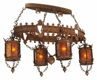 Meyda Tiffany 132229 Valhalla Antique 58 Inch Wide Lantern Chandelier Light Fixture