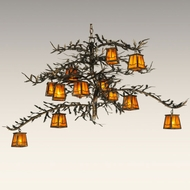 Meyda Tiffany 132277 Pine 36 Inch Tall Burnished Antique Copper Finish Rustic Hanging Chandelier