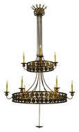 Meyda Tiffany 132339 Montgomery 2 Tier Traditional 48 Inch Diameter Large Candle Chandelier