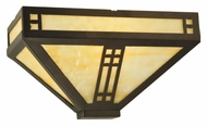 Meyda Tiffany 132665 Prairie Mahogany Bronze 12 Inch Wide Craftsman Ceiling Light