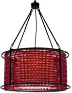 Meyda Tiffany 132706 Maille Ruby Red Chain 24 Inch Diameter 4 Lamp Drum Lighting Pendant