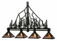 Meyda Tiffany 132767 Winter Pine 4 Lamp 59 Inch Wide Island Light Fixture