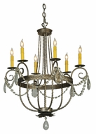 Meyda Tiffany 133148 Antonia Traditional 6 Candle Hanging Chandelier Lamp
