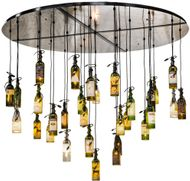 Meyda Tiffany 133795 Tuscan Vineyard Contemporary Satin Clear Multi Pendant Lighting