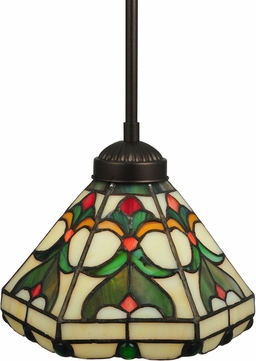 Meyda Tiffany 134225 Middleton Tiffany Mahogany Bronze Ceiling Pendant Light