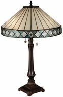 Meyda Tiffany 134537 Diamondring Tiffany Side Table Lamp