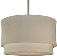 Meyda Tiffany 134583 Cilindro 2 Tier Fabric Drum Pendant Lighting