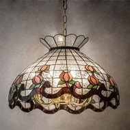 Meyda Tiffany 134790 Roseborder Tiffany Clear Pendant Lighting
