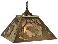 Meyda Tiffany 135709 Northwoods Leaping Bass Country Antique Copper Pendant Lighting