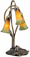 Meyda Tiffany 13595 Amber/Green Pond Lily Traditional Accent Table Top Lamp