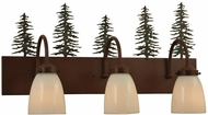 Meyda Tiffany 135960 Tall Pines Rustic Rust Finish 13.5  Tall Lighting For Bathroom