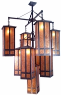 Meyda Tiffany 13793 Church Street Tiffany Craftsman Brown Chandelier Light