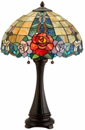 Meyda Tiffany 138121 Rose Vine Tiffany Mahogany Bronze Table Light