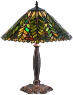 Meyda Tiffany 138582 Shasta Trail Tiffany Mahogany Bronze Lighting Table Lamp