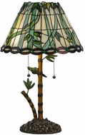 Meyda Tiffany 138588 Loro Paraiso Tiffany Table Top Lamp