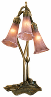Meyda Tiffany 13863 Cranberry Pond lily Traditional Accent Table Lamp Lighting