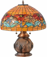 Meyda Tiffany 139609 Black Eyed Susan Tiffany Antique Copper Table Lamp