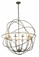 Meyda Tiffany 139969 Atomic Energy 36 Inch Diameter Contemporary 12 Candle Chandelier Light