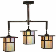 Meyda Tiffany 141037 Hyde Park 38 Inch Wide Craftsman Island Lighting - 3 Lamps