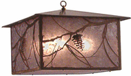 Meyda Tiffany 14116 Whispering Pines Rustic Antique Copper Drop Ceiling Lighting