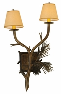 Meyda Tiffany 141317 Lone Pine Rustic 16 Inch Wide Wall Light Sconce - 2 Lamps