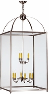 Meyda Tiffany 141629 Pavilion 9 Candle Brushed Nickel 55 Inch Tall Drop Lighting Fixture