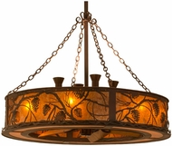 Meyda Tiffany 141752 Whispering Pines Rust/Wrought Iron/Amber Mica Home Ceiling Fan
