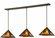 Meyda Tiffany 141881 Lone Pine 3 Lamp Oil Rubbed Bronze Amber Mica Island Lighting