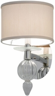 Meyda Tiffany 142142 Murano Bauble Polished Nickel Light Sconce