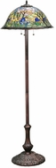 Meyda Tiffany 142382 Magnolia Tiffany Mahogany Bronze Floor Lamp