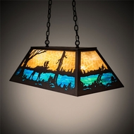 Meyda Tiffany 142396 Moose at Lake Dark Roast Island Lighting