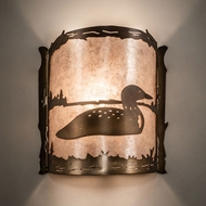 Meyda Tiffany 143377 Loon Antique Copper Wall Lamp