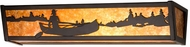 Meyda Tiffany 14344 Canoe on the Lake Rustic Vanity Light