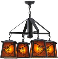 Meyda Tiffany 143500 Whispering Pines Country Oil Rubbed Bronze Chandelier Light