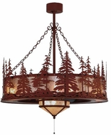 Meyda Tiffany 144121 Tall Pines Country Red Rust Finish 48 Tall Chandelier Lighting