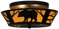 Meyda Tiffany 144229 Bear on the Loose Country Home Ceiling Lighting