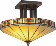 Meyda Tiffany 144759 Arizona Tiffany Mahogany Bronze Ceiling Lighting