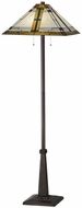 Meyda Tiffany 145071 Nevada Tiffany Mahogany Bronze Floor Lamp Lighting