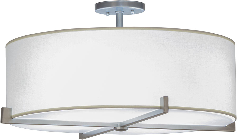 Meyda Tiffany 145105 Cilindro Structure Brushed Nickel Fluorescent ...