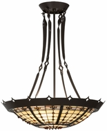 Meyda Tiffany 145143 Fleur-de-Lite Tiffany Timeless Bronze Pendant Hanging Light