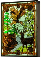 Meyda Tiffany 145706 Wilderness Tiffany LED Backlit Stained Glass Window
