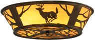 Meyda Tiffany 145717 Deer on the Loose Country Antique Copper;Custom Home Ceiling Lighting