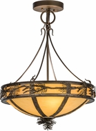 Meyda Tiffany 146004 Branches Rustic Antique Copper / Earth Marble Ceiling Light Pendant