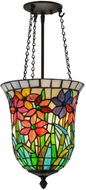 Meyda Tiffany 146084 Spring Bouquet Tiffany Oil Rubbed Bronze Mini Hanging Pendant Lighting