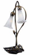 Meyda Tiffany 14654 White Pond Lily Traditional Accent Table Lamp Lighting